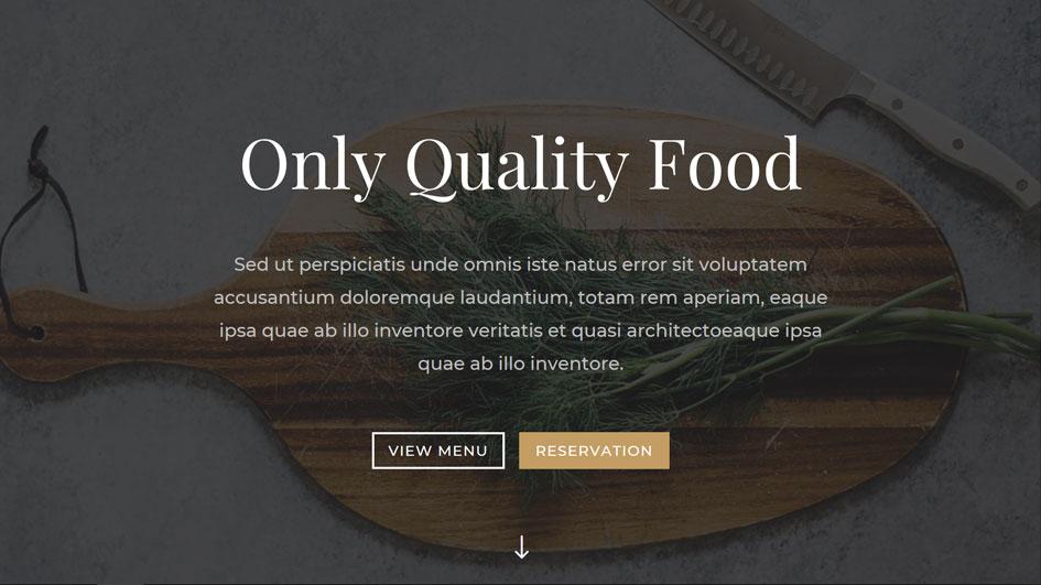 ホームページテンプレート(1)(飲食店向け)